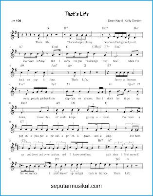That's Life 1 chords jazz standar