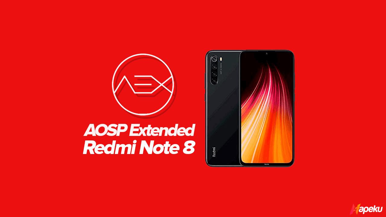 ROM AOSP Extended Xiaomi Redmi Note 8 ( GINKGO )
