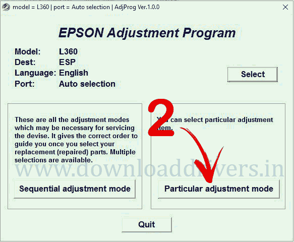 Epson adjustment software L360, adjustment program, download Epson reset application, re-set to zero L360