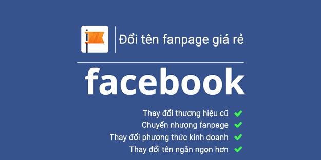 Đổi tên Fanpage/ Trang