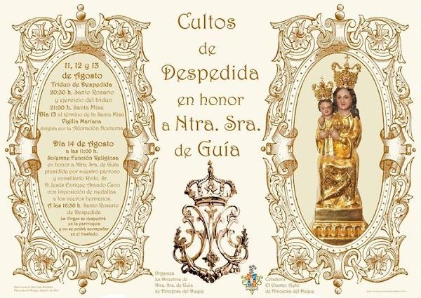 Cartel Cultos de Despedida de Nuestra Señora de Guía 2021 en Hinojosa del Duque