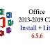 Office 2013-2019 C2R Latest Installing 6.5.8 Free Download