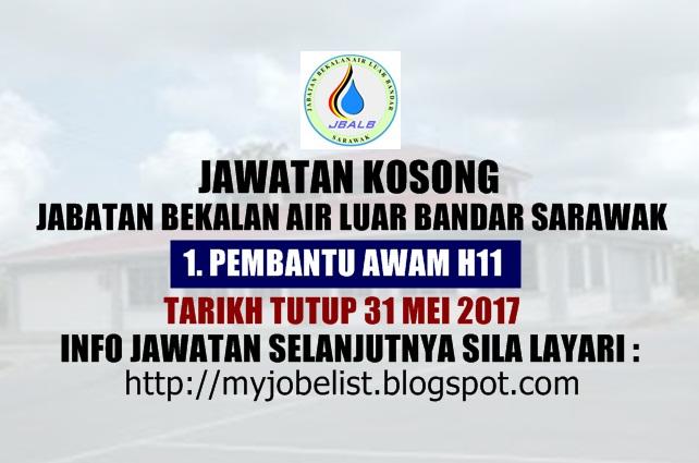 Jawatan Kosong di Jabatan Bekalan Air Luar Bandar Sarawak Mei 2017