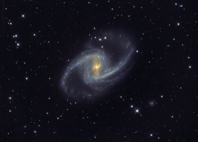 "NGC 1365 - The ""Great Barred Spiral Galaxy"" in the constellation Fornax. Imaged data acquired on ATEO-3 by Franck Jobard and processed by Utkarsh Mishra."