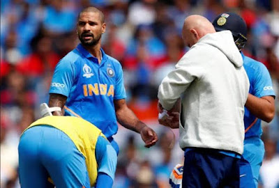 Shikhar Dhawan injury out of team India