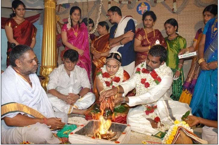 Tamil Film Actress Wedding Photos