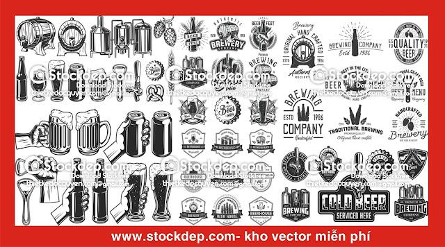 Chia sẻ mẫu vector ly bia logo quán nhậu…