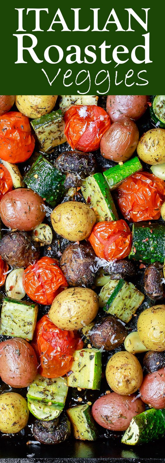 ITALIAN OVEN ROASTED VEGETABLES #italian #italianfood #oven #roastedvegetables #veganrecipes #vegetarianrecipes #vegetablerecipes