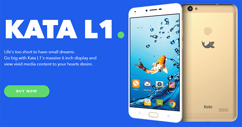 Kata announces L1 w/ 6-inch screen and 1GB RAM for PHP 4,999