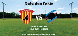 Data dan Fakta Liga Fantasia Serie A Benevento vs Sampdoria Fantasi Manager Indonesia