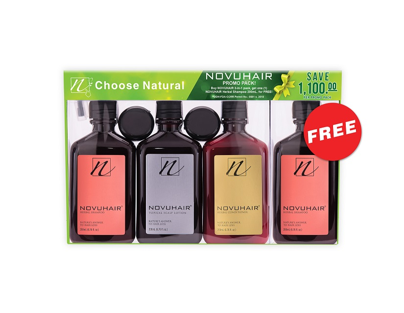 novuhair 3-in-1 plus 1 promo pack