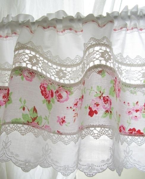 Floral na cortina jeito de casa blog de decora o - Rideau style anglais ...