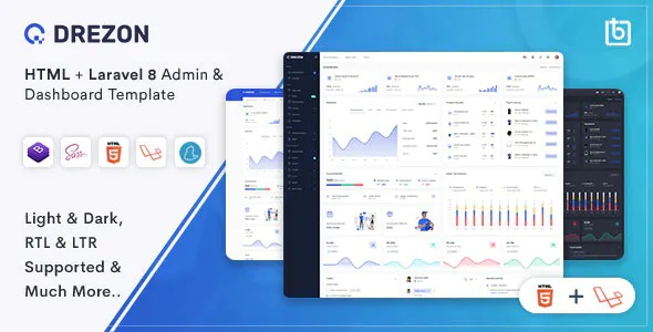 Best HTML & Laravel Admin Dashboard Template