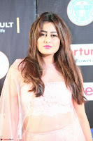 Nidhi Subbaiah Glamorous Pics in Transparent Peachy Gown at IIFA Utsavam Awards 2017  HD Exclusive Pics 15.JPG