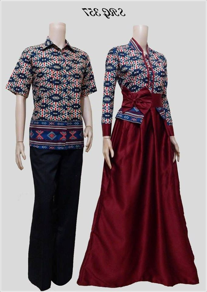Model Baju Batik Muslim Couple Modern 2016 Busana Indonesia