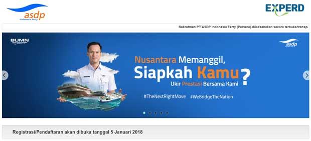 BUMN ASDP Buka Lowongan Secara Besar-besaran Tahun 2018