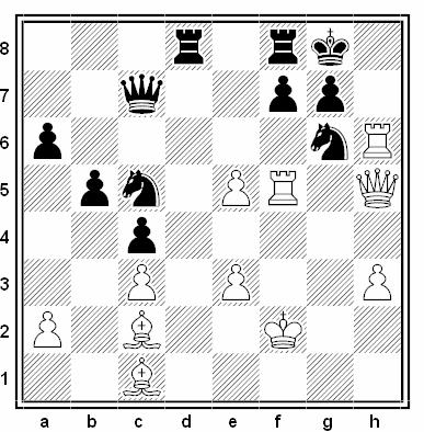 Posición de la partida de ajedrez Chudinovsky - Muraiev (URSS, 1990)