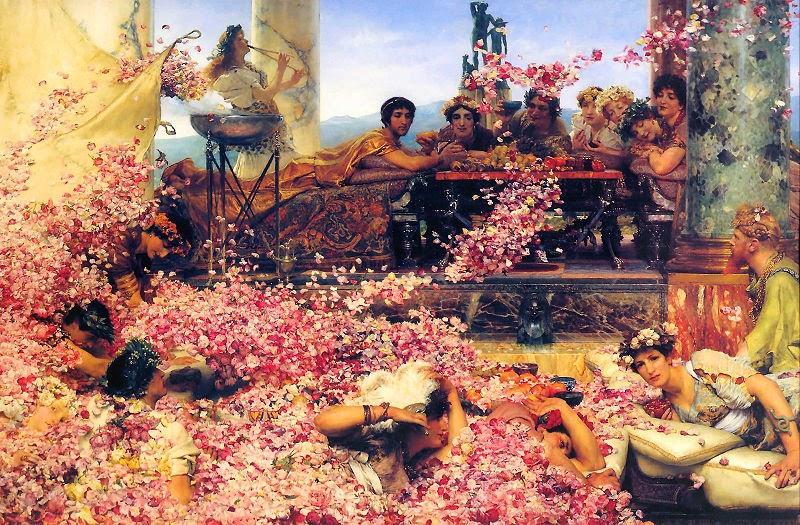 As Rosas de Heliogábalo - As mais belas pinturas de Lawrence Alma-Tadema - (Neoclassicismo)