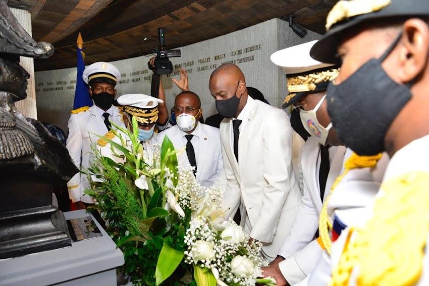 Jovenel Moïse Honore la mémoire de Jean Jacques Dessalines ce 17octobre 2020