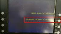 sbi mobile number change through atm