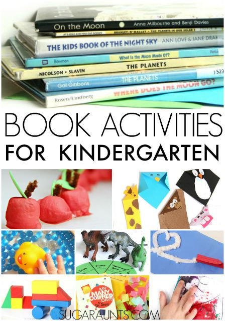 Book ideas activities for Kindergarten