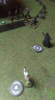 Darth Vader attacks the defending Rebels