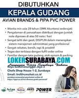 Loker Surabaya di Avian Brands and Pipa PVC Power Juli 2020
