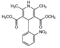 Nifedipin Menghambat ion kalsium masuk ke  Nifedipin