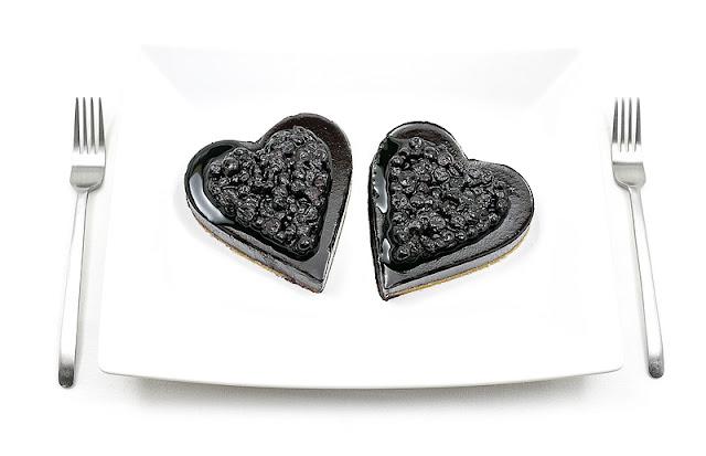 Valentinove borovničeve tortice recept fotka