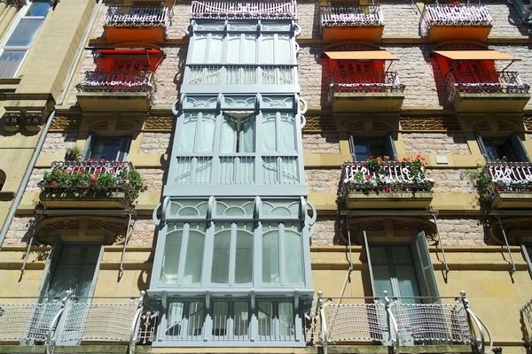 espagne pays basque san sebastian centre-ville art nouveau