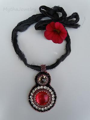 rubinowy wisior DIY