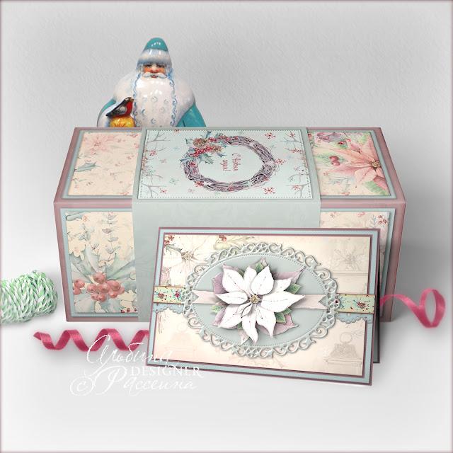 Коробка на Новый год - скрапбукинг.