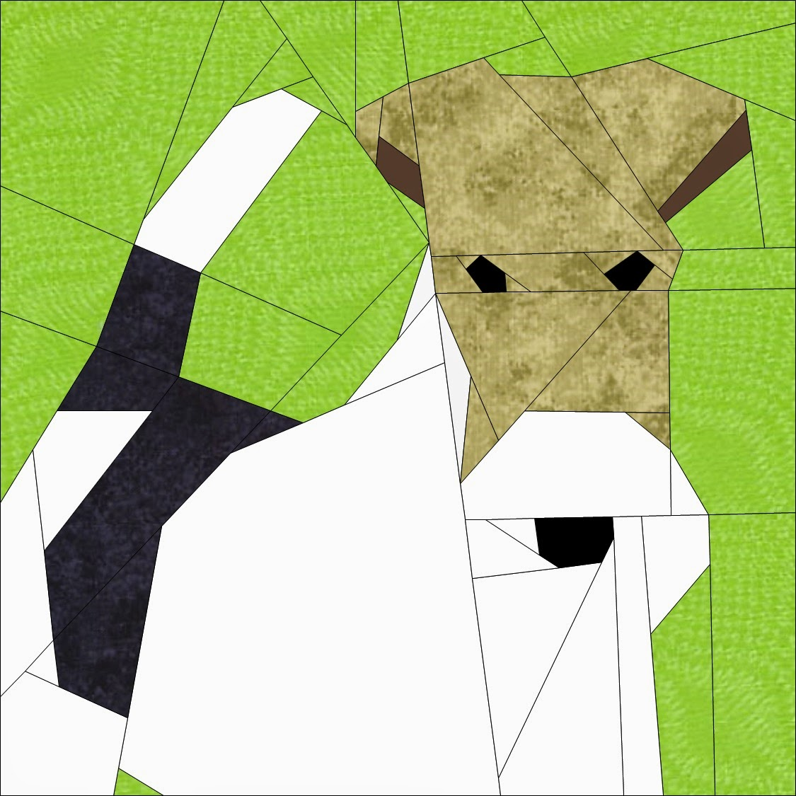 Wire hair fox terrier quilt block