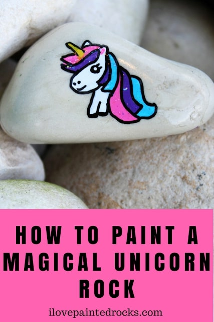 How to paint a magical unicorn rock #ilovepaintedrocks #rockpainting #paintedrocks #stonepainting #paintedstones #rockpaintingideas