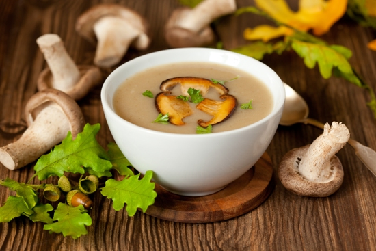 6. Sopa de Frango e Cogumelo