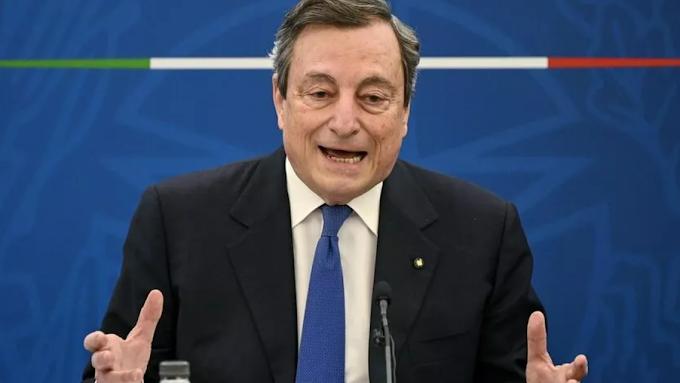 """Draghi: """"Italiani si vaccinino, variante Delta è una minaccia"""""""