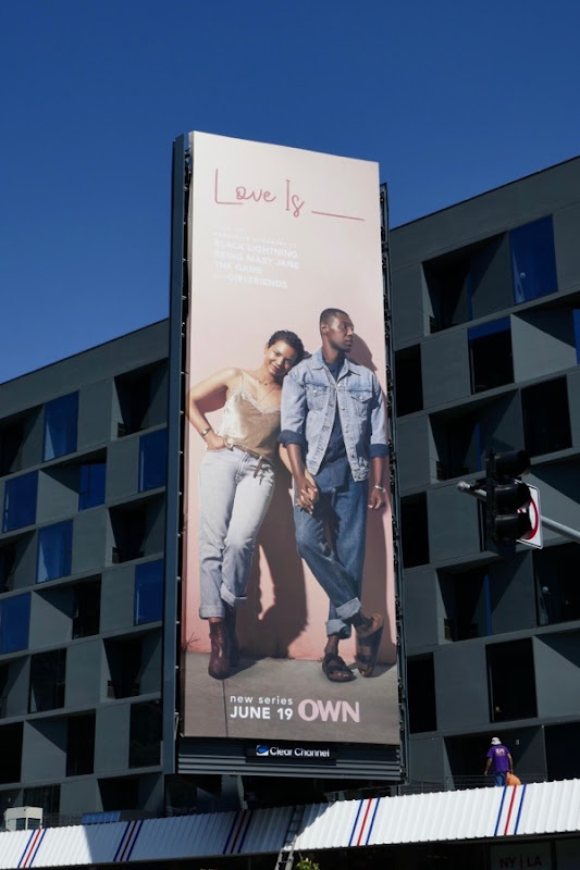 Love Is series launch billboard