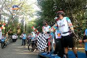 BPTD XI Jatim Gowes Dan Bagikan 1.000 Masker