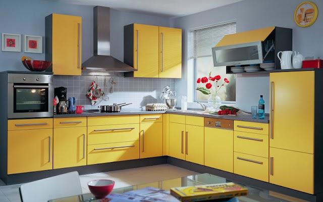 15 Κουζίνες σε Κίτρινο - Μπλε