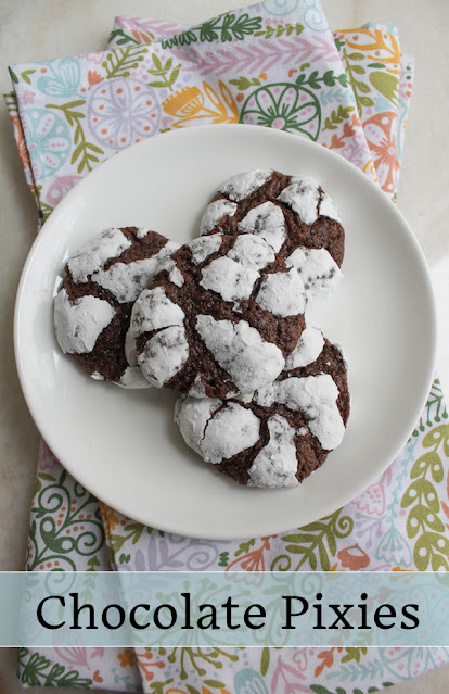 Food Lust People Love: Chocolate Pixies are a magical combination of chewy, crunchy, chocolatey and nutty, baked with a light coating of powdered pixie dust aka icing sugar.