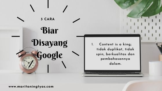 belajar SEO google bikin konten is a king