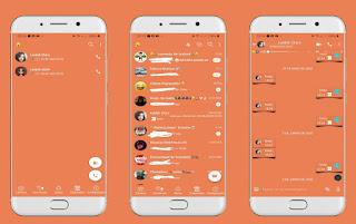 Orange Theme For YOWhatsApp & Fouad WhatsApp By Leidiane