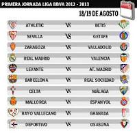 Primera jornada de la Liga BBVA 2012-2013