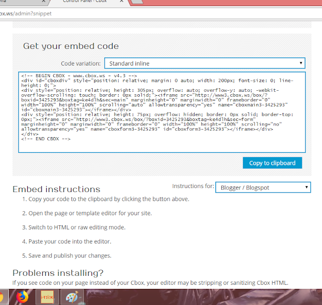 html cbox