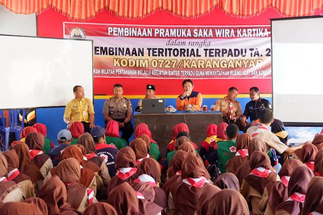 Kodim Karanganyar - Melalui Pembinaan Teritorial Terpadu Kodim Karanganyar Membentuk Generasi Muda Yang Tangguh