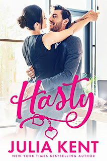 Hasty - a hilarious enemies-to-lovers romance by Julia Kent book promotion sites