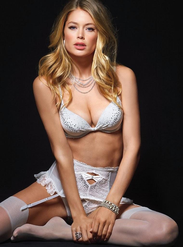 Dutch babe Doutzen Kroes hot photos for Victoria's Secret bra and lingerie  collection