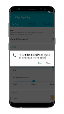 Edge Lighting App Permission