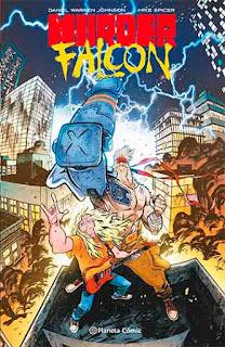 Portada de  Murder Falcon, editado en España por Planeta Cómic