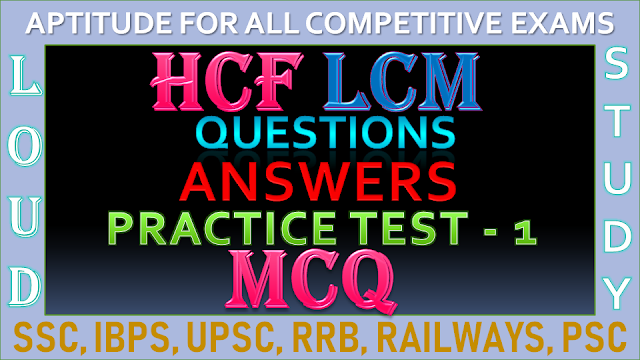 HCF and LCM Questions and Answers